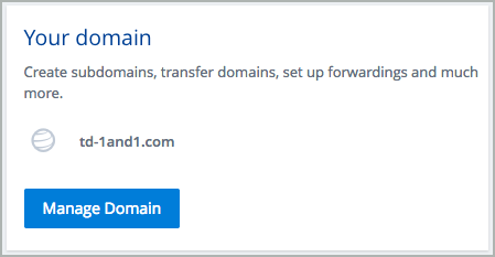 Manage Domain button