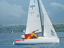 J/70 sailing with Chilean Naval Academy sailing team