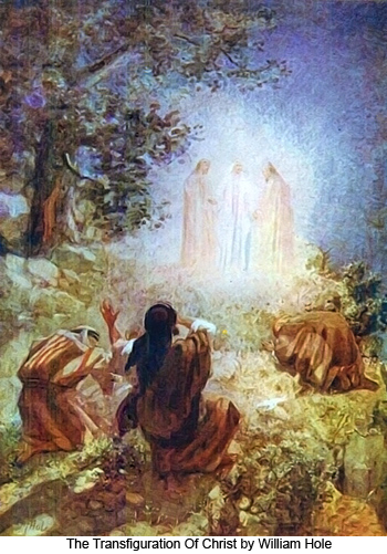 The Transfiguration of Christ by William Hole dans images sacrée William_Hole_The_Transfiguration_Of_Christ_350