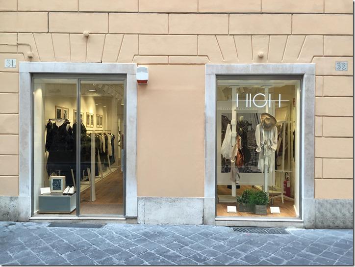 Vetrina Boutique HIGH - Roma