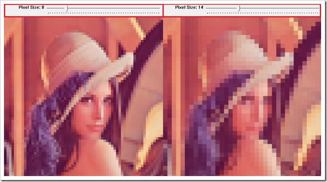 opencv efecto pixelado