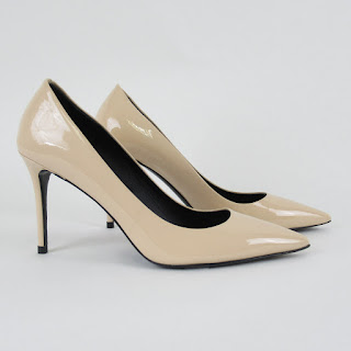 Theory NEW Beige Patent Leather Pumps