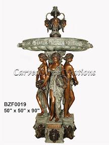 Bronze, Classical, Fountain, Statue, Women
