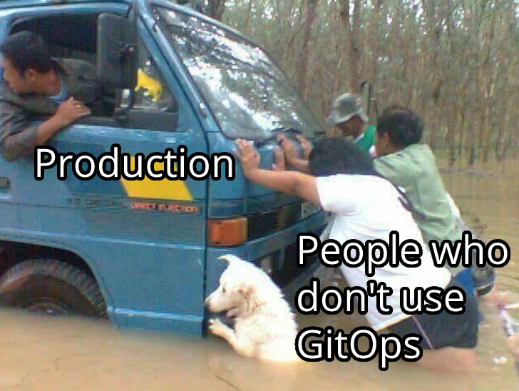 People who don't use GitOps delaying production code