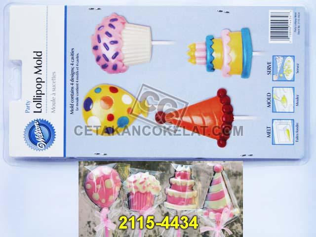cetakan coklat cokelat 2115-4434 Balon Kue Birthday Ulang tahun Party