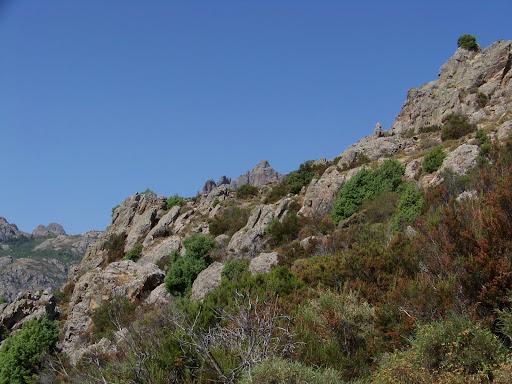 Cheminement sur la crête de Tornatoghju