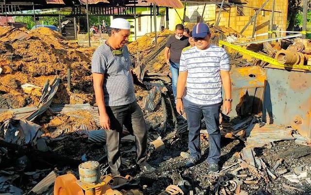 Kebakaran Menimpa Salah Satu Legislator, Ketua DPRD Kapuas Sampaikan Rasa Prihatin