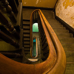 Asylum Staircase by D. Jan Anderson - Buildings & Architecture Architectural Detail