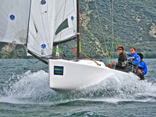 J/70 North Sails- winning J/70 EuroCup on Lake Garda, Italy