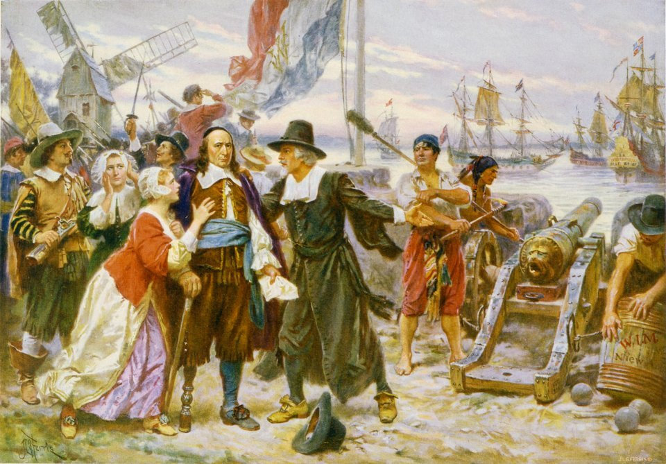 Stuyvesant Surrenders to the British, 1664