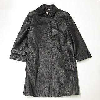 Burberry London Black Textured Coat