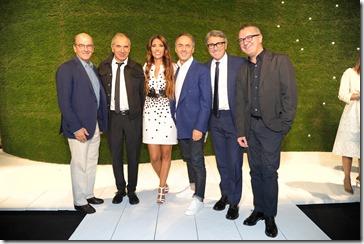 Lavinia Biagiotti con Raffaello Napoleone, Carlo Capasa, Nerio Alessandri, Gianpaolo Montali, Luca Dini.