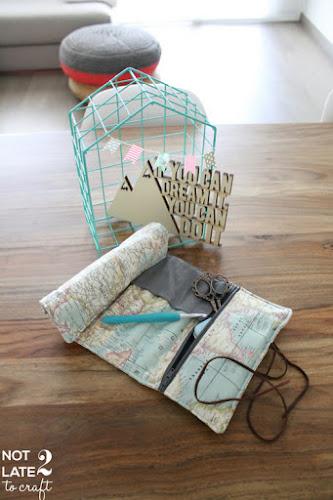 Not 2 late to craft: Porta-agulles de ganxet / Crochet hooks case