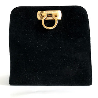 Salvatore Ferragamo Classic Black Suede Crossbody Bag