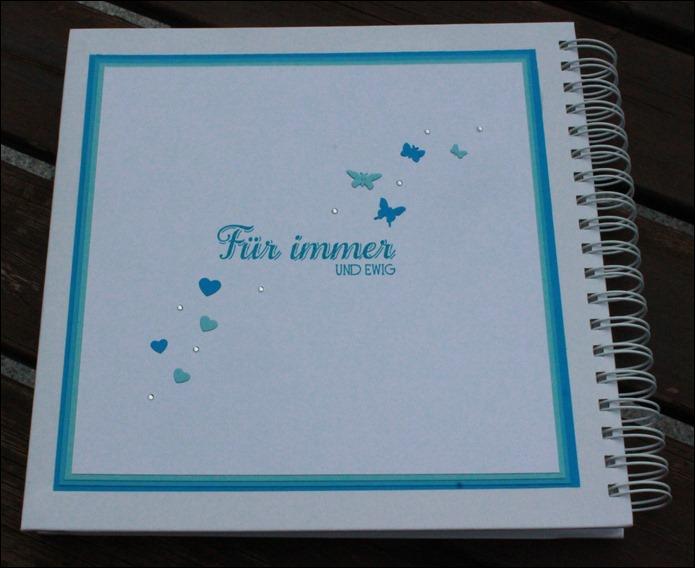 Gästebuch Hochzeit Wedding Guestbook Türkis Schmetterling 05