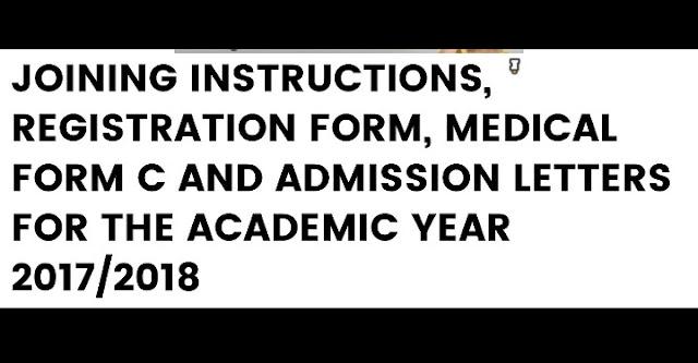 JOINING INSTRUCTIONS, REGISTRATION FORM, MEDICAL FORM C