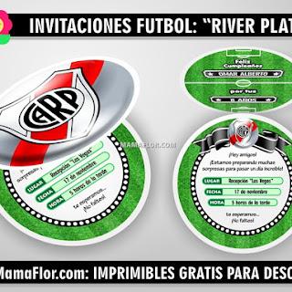 Tarjetas en forma de Pelota de River Plate
