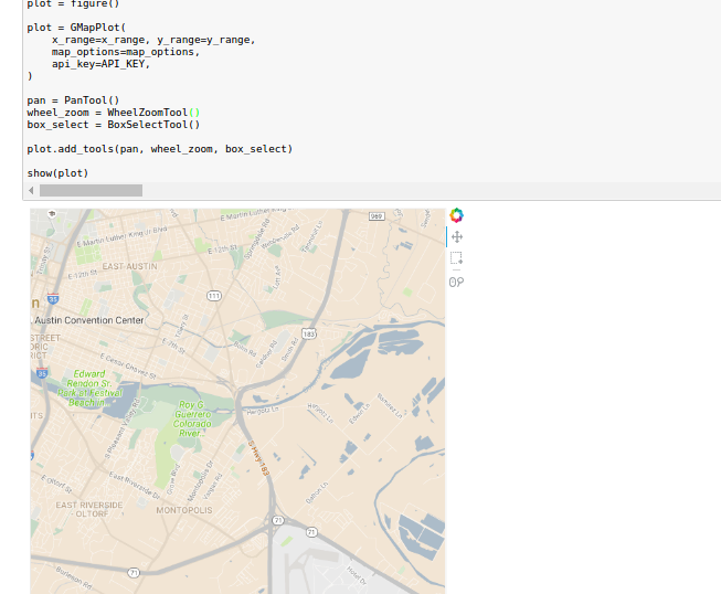 Bokeh with GMaps on Jupyter does not change until zooming on browser