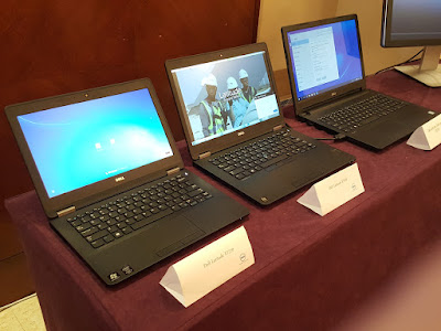 From left: the Dell Latitude E7270; the Latitude E7470; and the Latitude 3000 series (3570).