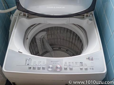 1回も掃除してない8年物の洗濯機