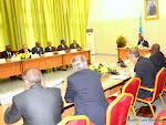 Le Président Joseph Kabila a reçu la délégation des diplomates accrédités en RDC le 11/06/2015 au palais de la nation à Kinshasa lors des consultations. Radio Okapi/Ph. John Bompengo