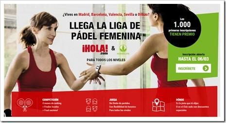 Herbalife y HOLA.com crean la liga de pádel femenina.