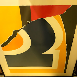 Signed Abstract '2' Lithograph