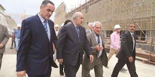 En visite au chantier de la grande mosquée d'El Mohammedia Tebboun annonce :  « La pose de la première voûte dès août prochain »