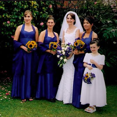 Sandra's bridesmaids - halter-neck dresses