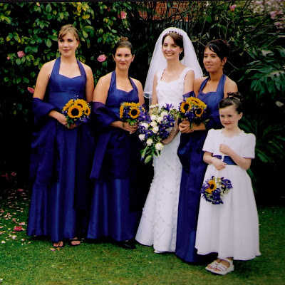 Sandra's bridesmaids - halter-neck dresses