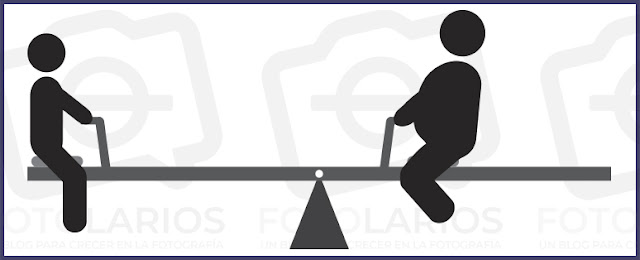 distancia al eje de equilibrio