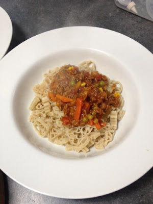 Bolognese with gluten-free pasta - Rachel Bustin