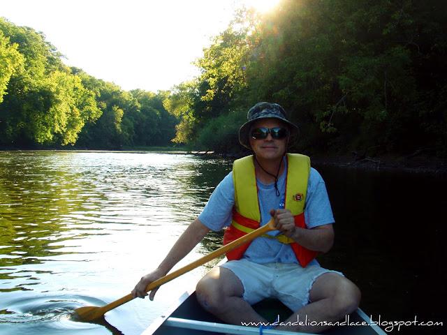 canoeing on the cedar river