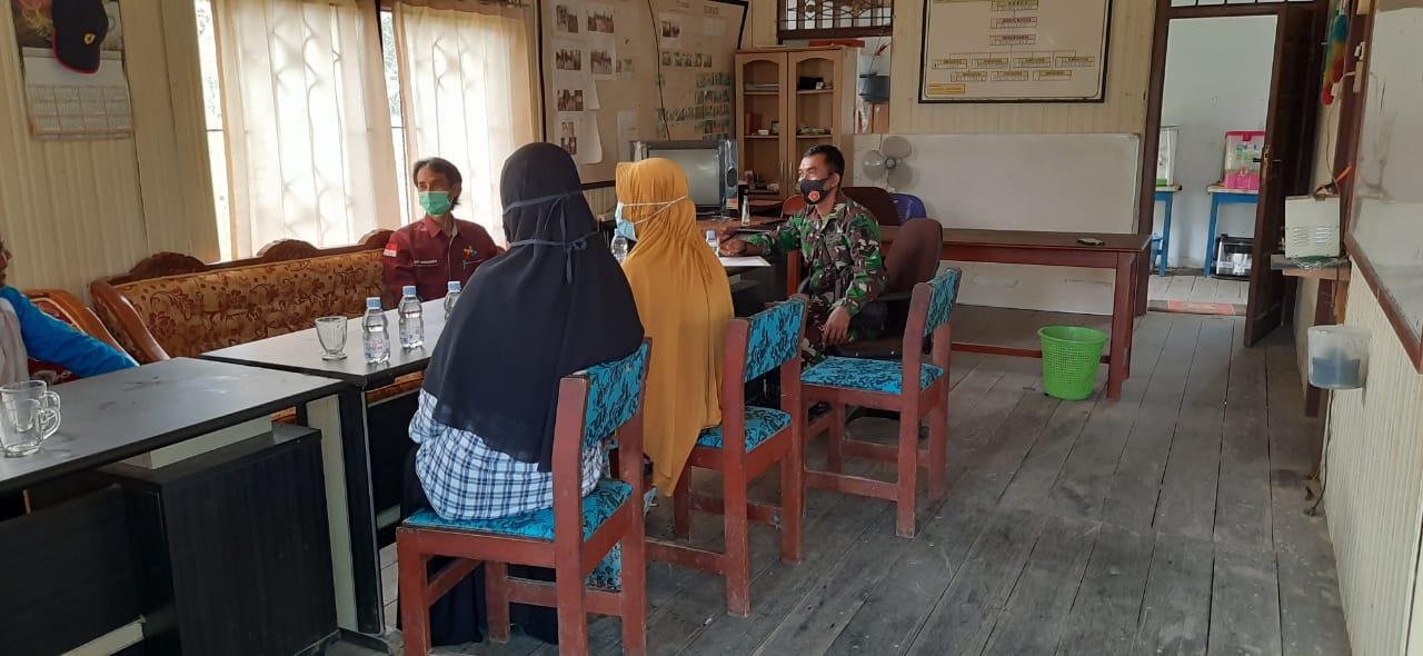 Babinsa Koba hadiri Musyawarah Pembuatan Jalan Kelompok Tani