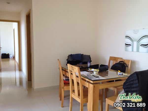 căn block T4 loại 2 phòng ngủ tại The Vista cho thuê giá rẻ