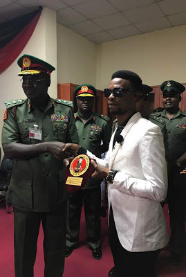 Nigerian Army Honours Comedian, I Go Dye (Photos)