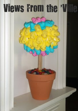 Easter Crafts: DIY Peeps Topiary Centerpiece