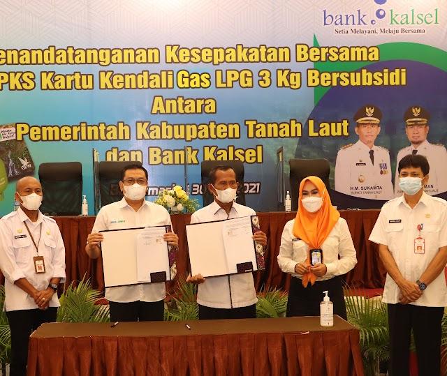 Terbitkan Kartu Kendali, Pemkab Tanah Laut dan Bank Kalsel Permudah Warga Peroleh Gas LPG