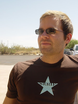 Photo of Justin in Joshua Tree National Park. I believe it was 150 degrees when I took this photo. Photo taken on August 15, 2007.