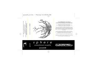 Photo: Master Artwork: PCCOM25, Sphere - Promotional Cassette, released Apr 1996. Intended to promote the CD album Wonderland - eventually released 2007. Design by Dennis Remmer.