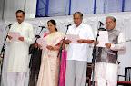 New Ministers Swearing: (L to R) Vishveshvara Hegde Kageri, Shobha Karandlaje, Suresh Kumar, Govinda Karjol
