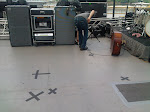 Here's a fun one to hear:  The X's mark weak spots where the floor is giving way - they warned us not to step there.