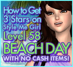 Style Me Girl Level 58 -Beach Day - Yourself - Stunning! Three Stars