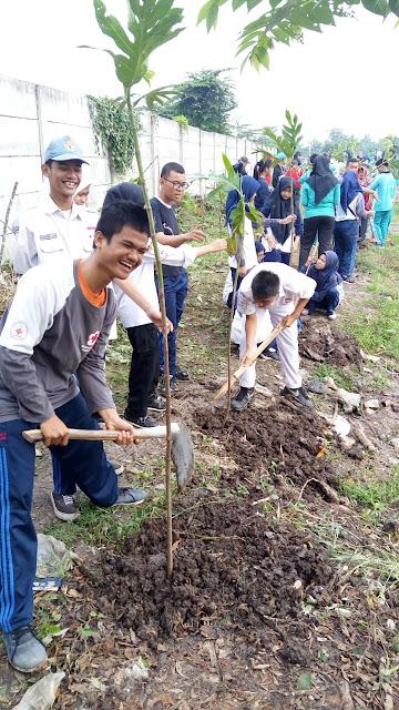 Hijaukan Polder Air Aren Jaya, Warga Tanam 200 Pohon Sukun