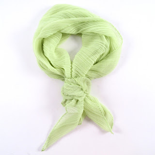 Issey Miyake Chartreuse Scarf