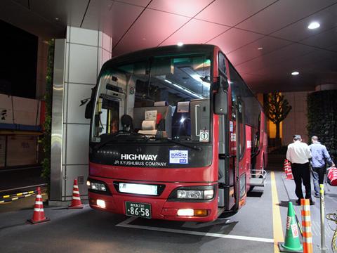 JR九州バス「桜島号」 8658 鹿児島中央駅前到着