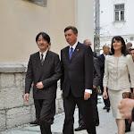 Obisk cesarskega para Akishino - Sprehod po Ljubljani