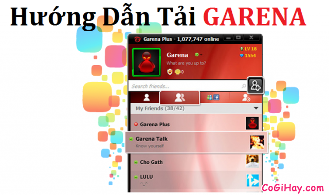 download garena, tải garena