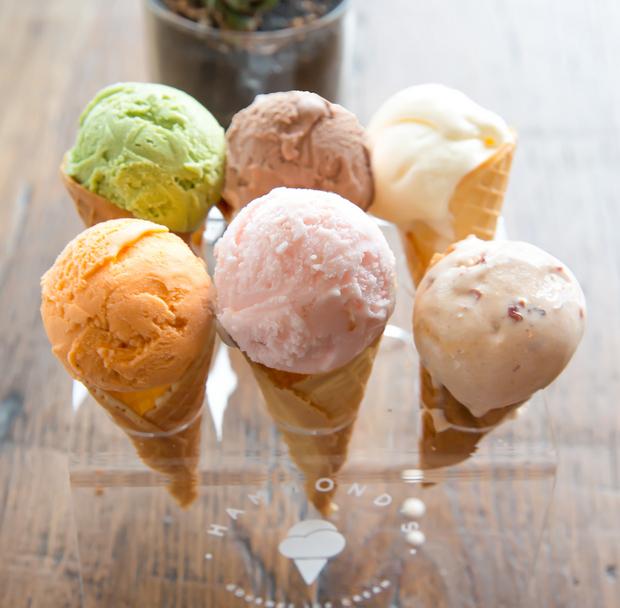 photo of six ice cream cones