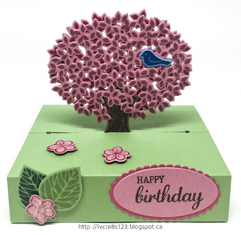 Linda Vich Creates: Thoughtful Branches Birthday. Pop-up card created with the Limited Edition Thoughtful Branches Bundle.